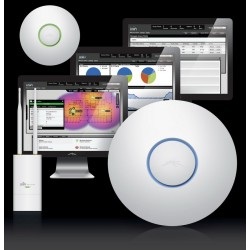 Ubiquiti UniFi UAP-Pro Access Point Dual Band ความถี่ 2.4/5GHz ความเร็ว 450Mbps Port Gigabit พร้อม Software Controller Wirele...