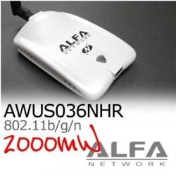 ALFA Network Wireless USB แบบกำลังส่งสูง ALFA AWUS036NHR ตัวรับสัญญาณ Wireless ระยะไกล แบบ USB กำลังส่งแรงสุดถึง 2000mW ความเ...