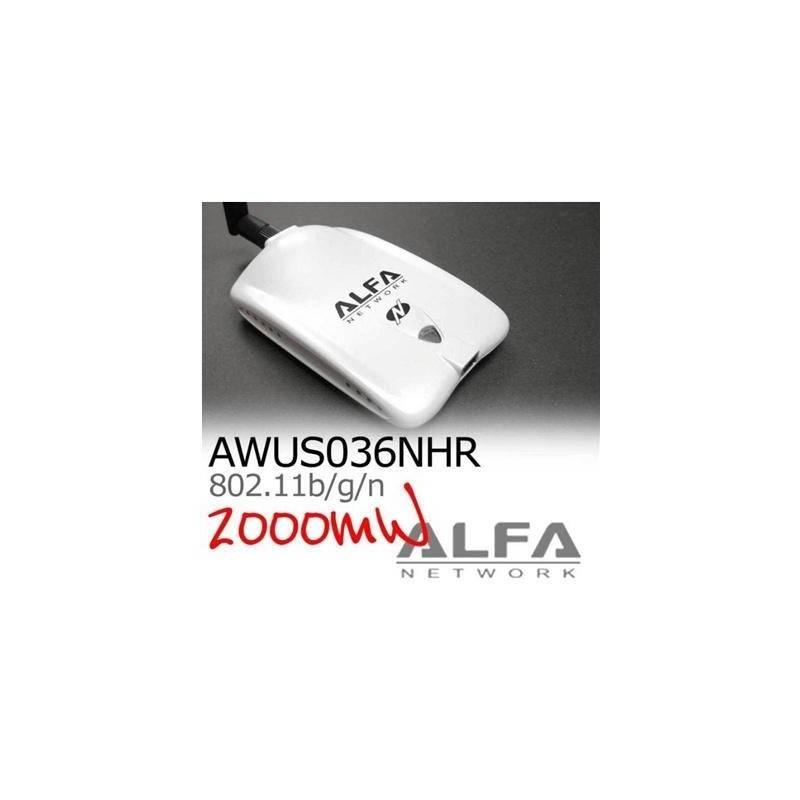 ALFA Network ALFA AWUS036NHR ตัวรับสัญญาณ Wireless ระยะไกล แบบ USB กำลังส่งแรงสุดถึง 2000mW ความเร็ว 150Mbps