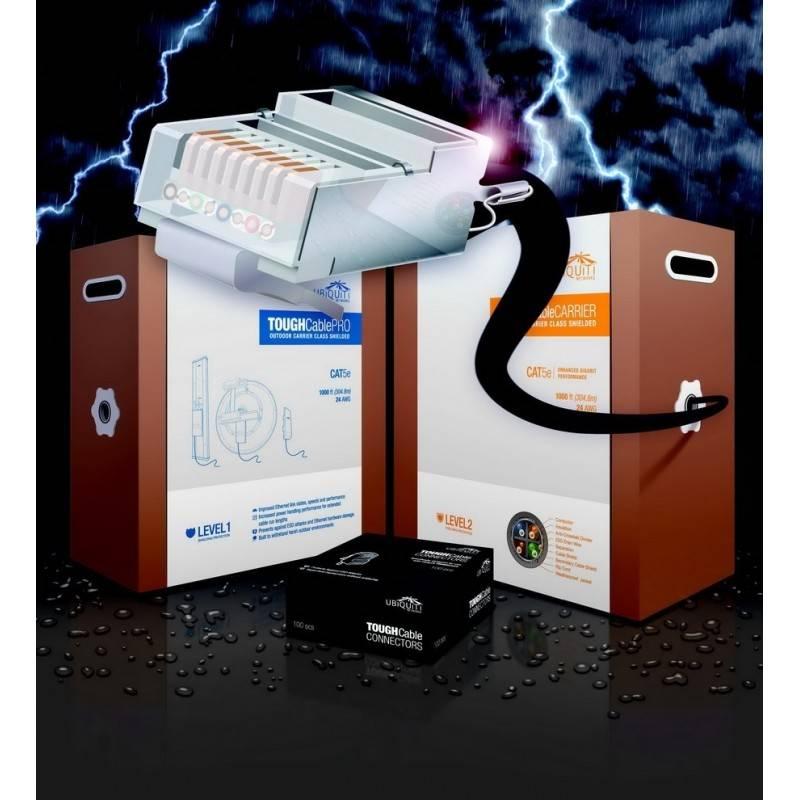 Ubiquiti TOUGH Cable-Pro สายนำสัญญาณ STP แบบมี Shield สำหรับติดตั้งนอกอาคาร มาตรฐาน CAT5E ป้องกันสัญญาณรบกวนและ ESD