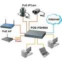 Airlive POE-FSH804 Fast Ethenet Switch ขนาด 8 Port 10/100Mbps รองรับ POE มาตรฐาน 802.3af จำนวน 4 Port