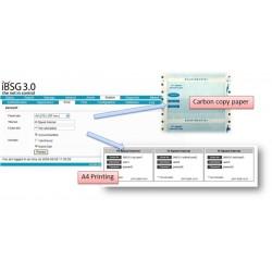 กระดาษ Carbon Copy สำหรับพิมพ์ออกตั๋ว User/Password ในการใช้งาน Internet