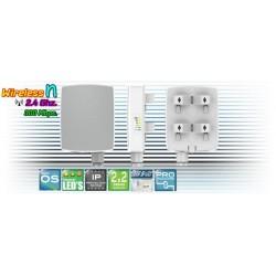 Deliberant APC 2M-8 อุปกรณ์ AccessPoint แบบภายนอกอาคาร ความเร็ว 300Mbps ความถี่ 2.4GHz รองรับ WNMS พร้อม POE ในชุด