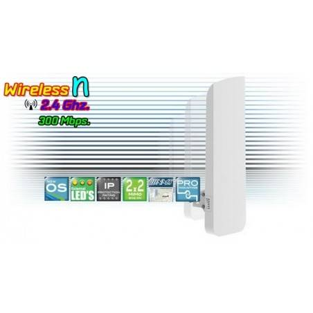 Deliberant APC 2M-90 อุปกรณ์ AccessPoint ภายนอกอาคาร ความถี่ 2.4GHz ความเร็ว 300Mbps กระจายสัญญาณ 100 องศา พร้อม POE ในชุด