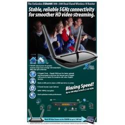 EnGenius Engenius ESR-600H Broadband Router แบบ Dual Band 2.4/5GHz ความเร็วสูง 300Mbps กำลังส่ง 200mW พร้อม Port Gigabit