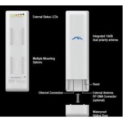 Ubiquiti Ubiquiti NanoStation2 Wireless Access Point แบบ Outdoor ความถี่ 2.4GHz ความเร็ว 54 Mbps กำลังส่ง 400 mW