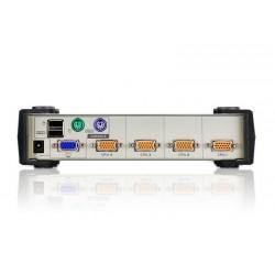 KVMP Switch Aten CS84U ขนาด 4Port พร้อม สาย 4 เส้น รองรับทั้ง PS/2 และ USB