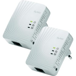 Zyxel PLA4201 Powerline Adapter Pack คู่ เชื่อมเครือข่าย Network ผ่านสายไฟฟ้าในบ้าน ความเร็วสูงสุด 500Mbps ระยะไกลสุด 300 เมต...