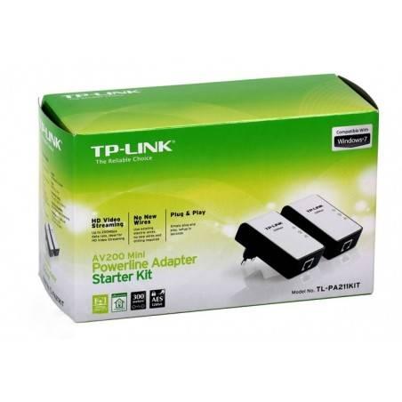 TP-Link TL-PA211 Kit อุปกรณ์ Powerline Adapter เชื่อมเครือข่าย Network ผ่านสายไฟฟ้าในบ้าน ความเร็ว 200Mbps ระยะไกลสุด 300 เมตร