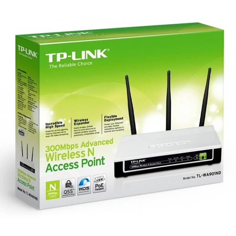 TP-Link TP-Link TL-WA901ND Wireless Access Point ราคาประหยัด ความถี่ 2.4GHz ความเร็ว 300Mbps รองรับ Repeater พร้อม POE ในชุดอ...