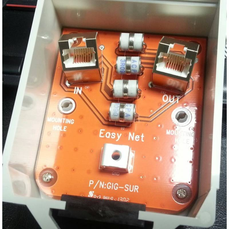 Sysnet Gigabit Surge/Lightning Protector ปกป้องระบบเครือข่ายที่เกิดจาก ESD/ฟ้าผ่า ผ่านสาย Lan
