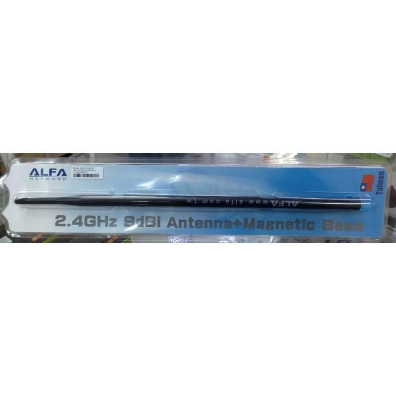 เสาอากาศ Alfa ARS-N19M BP ย่าน 2.4 GHz ใช้ภายในอาคาร กำลังขยาย 9dBi หัวต่อ SMA พร้อมสายสัญญาณและฐานแม่เหล็ก
