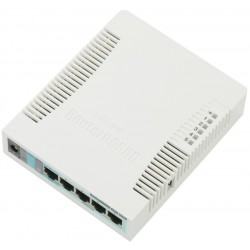 Mikrotik RouterBoard RB-951G-2HnD ROS Lv.4 CPU 600MHz 5 Port Gigabit Wireless 802.11N ย่าน 2.4GHz กำลังส่ง 1W