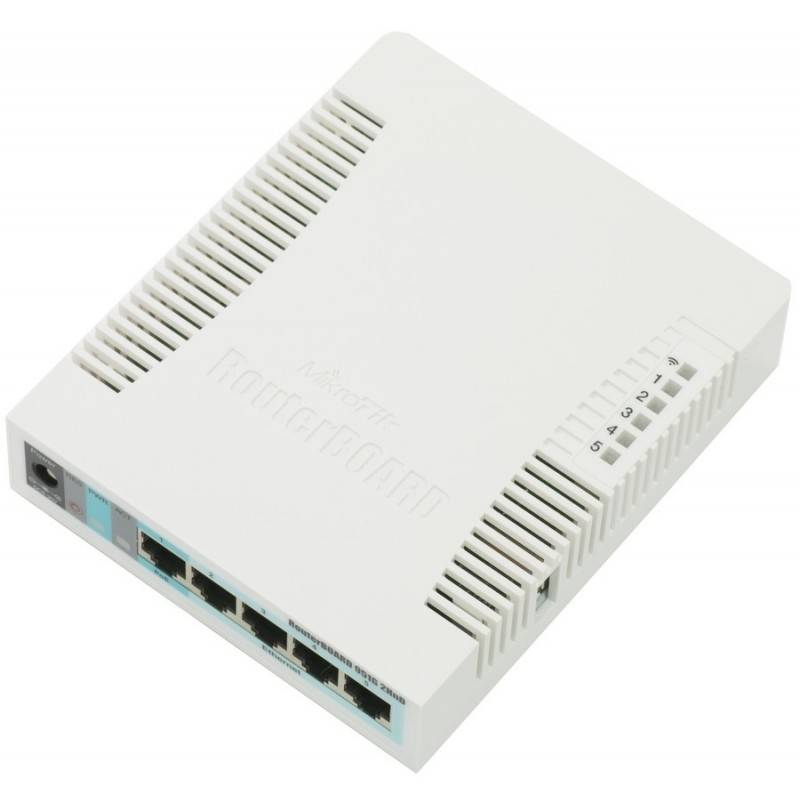 Mikrotik RouterBoard RB-951G-2HnD ROS Lv.4 CPU 600MHz 5 Port Gigabit Wireless 802.11N ย่าน 2.4GHz กำลังส่ง 1W Mikrotik (ไมโคร...