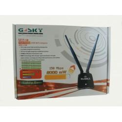 G-Sky GS-28USB N150 ตัวรับสัญญาณ USB WIFI แบบ Hi-Power 2000mW ความเร็ว 150Mbps พร้อมเสา Omni 5dBi Wireless Adapter (รับสัญญาณ...