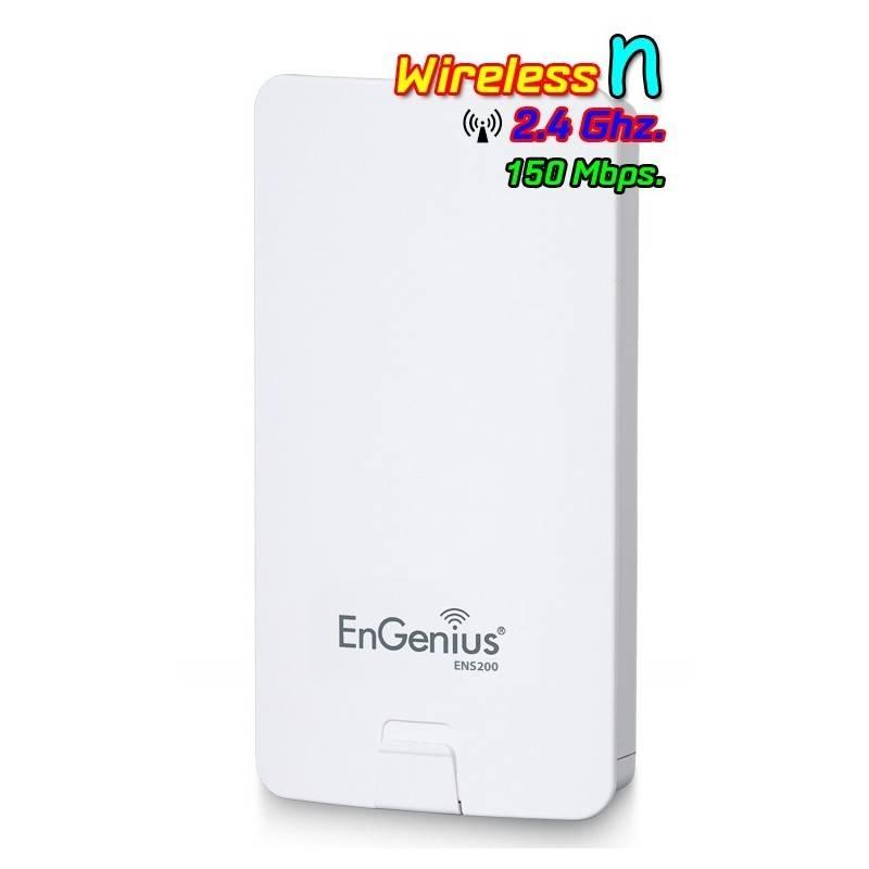 Engenius ENS200 Accees Point แบบภายนอกอาคาร ความถี่ 2.4GHz ความเร็วสูงสุด 150 Mbps กำลังส่งสูงสุด 400mW Wireless AccessPoint ...