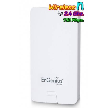 Engenius ENS-200 Accees Point แบบภายนอกอาคาร ความถี่ 2.4GHz ความเร็วสูงสุด 150 Mbps กำลังส่งสูงสุด 400mW