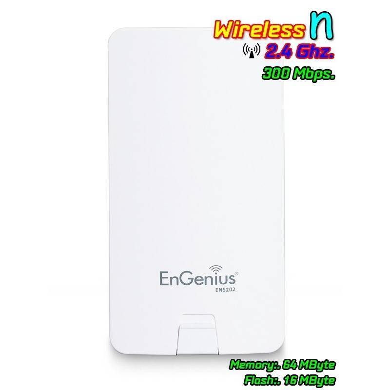 Engenius ENS-202 Accees Point แบบภายนอกอาคาร ความถี่ 2.4GHz ความเร็วสูงสุด 300Mbps กำลังส่ง 400mW รองรับ Users ได้มาก