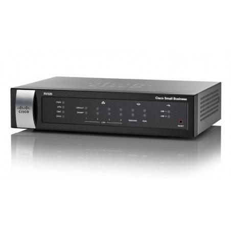 Cisco RV320 Gigabit Dual WAN VPN Router รวม Internet 2 คู่สาย VPN 25 Tunnels, รองรับ 3G Modem พร้อม 4 Port Gigabit