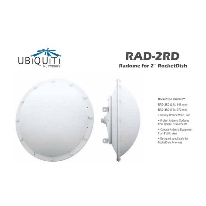 Ubiquiti Ubiquiti (ยูบิคิวตี้) Ubiquiti RAD-2RD อุปกรณ์ลดแรงต้านลม Radome Parabolic ขนาด 2ft สำหรับ Dish Antenna