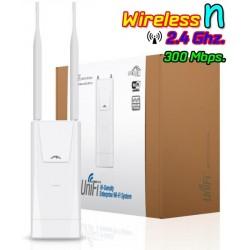 Ubiquiti UniFi UAP-Outdoor+ Access Point ภายนอกอาคาร 2.4GHz ความเร็วสูง 300Mbps เสา 5dBi X 2 พร้อม Software Controller Wirele...