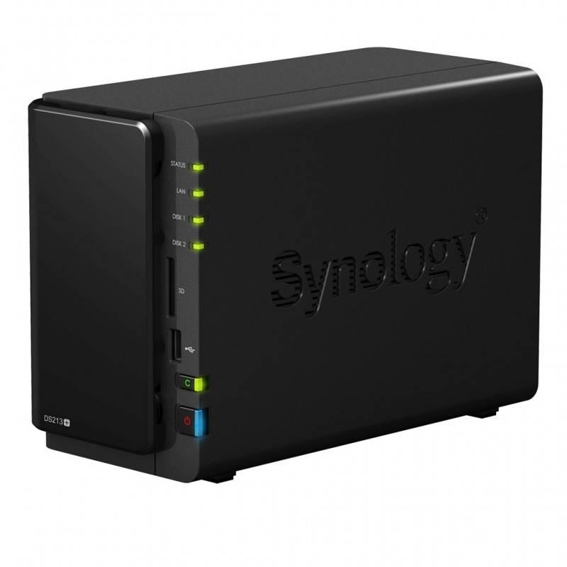 Synology อุปกรณ์จัดเก็บข้อมูล (NAS) Synology DSC213+ Network Attatch Storage ขนาด 2Bay (4TB X 2) รองรับ Media Streaming, iTun...