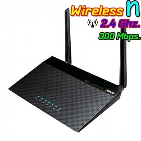 Asus RT-N12-D1 Wireless Broadband Router 300Mbps 2.4GHz เสา 5dBi X 2 พร้อม 4 Port Lan