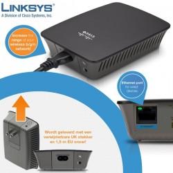 Linksys RE1000 Wireless-N Range Extender/Bridge ความถี่ 2.4GHz ความเร็ว 300 Mbps รองรับ Mode Repeater/Bridge Wireless AccessP...