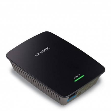 Linksys RE2000 Wireless-N Range Extender/Bridge ความถี่ 2.4 และ 5GHz ความเร็ว 300 Mbps รองรับ Mode Repeater/Bridge