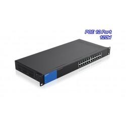 Linksys LGS124P POE Gigabit Switch 24 Port ความเร็ว 10/100/1000 Mbps พร้อม Poe 12 Port เคสเหล็ก
