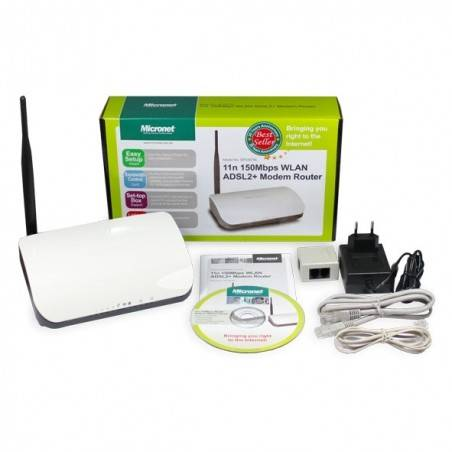Micronet SP33667NL 11n 150Mbps WLAN ADSL2+ Modem Router ราคาประหยัด ความถี่ 2.4Ghz 150Mbps 4 Port Lan