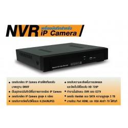 Plenty NVR อุปกรณ์บันทึกภาพจากกล้อง IP Camera รองรับ 4CH. ความชัดระดับ HD รองรับ HDD 3TB  กล้อง IP Camera / เครื่องบันทึก NVR