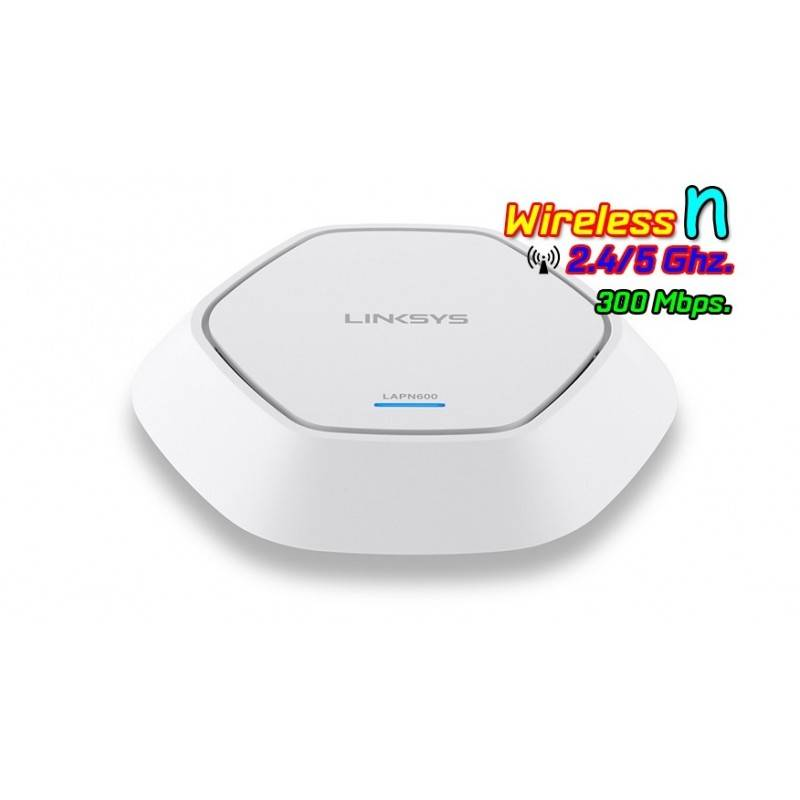 Linksys LAPN600 Access Point Dualband 2.4/5.0GHz 300Mbps Port Gigabit รองรับ POE Linksys (ลิงค์ซิส)