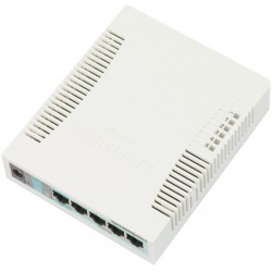 Mikrotik RB260GS Smart Switch 5 Port Gigabit รองรับทำ VLANs, Mirror Traffic และ Bandwidth Limit