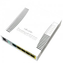 Mikrotik RB260GSP Smart Switch 5 Port Gigabit พร้อม Passive POE 4 Port VLANs, Mirror Traffic, Bandwidth Limit