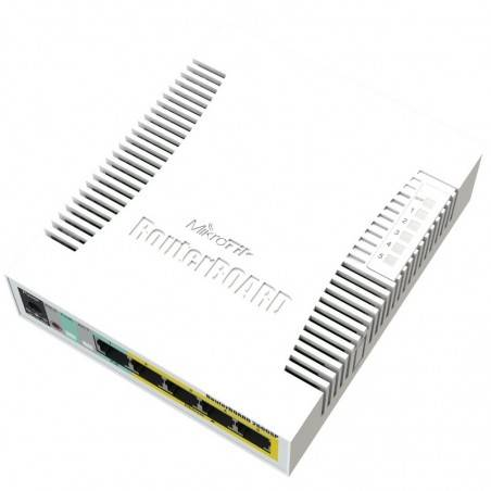 Mikrotik RB260GSP อุปกรณ์ Smart Switch 5 Port Gigabit พร้อม Passive POE 4 Port รองรับ VLANs, Mirror Traffic, Bandwidth Limit