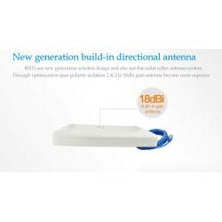 WIFI-HIGH-POWER-802N ตัวรับสัญญาณ USB แบบ High Power พร้อมเสาทิศทาง Panel 18dBi สายยาว 10 เมตร Wireless Adapter (รับสัญญาณ Wi...