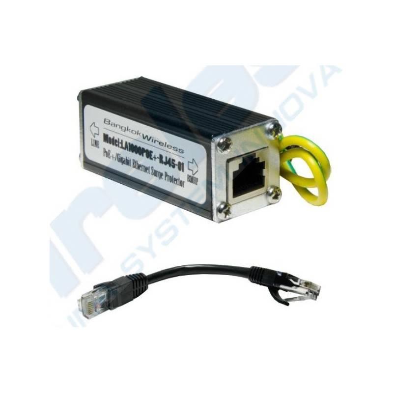 LA1000POE Gigabit Surge/Lightning Protector อุปกรณ์ปกป้องระบบเครือข่ายที่เกิดจาก ESD/ฟ้าผ่า ผ่านสาย Lan ป้องกันฟ้าผ่า Surge/L...