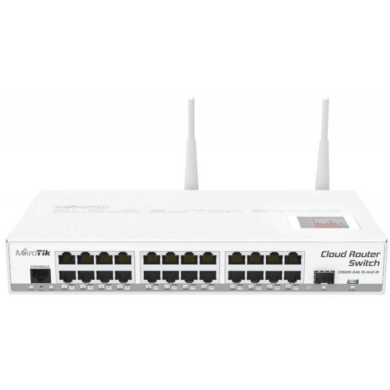 MikroTIK Mikrotik Cloud Router Switch CRS125-24G-1S-2HnD-IN ROS Lv5, Wireless 2.4GHz, Smart Switch-L3 24 Port Gigabit