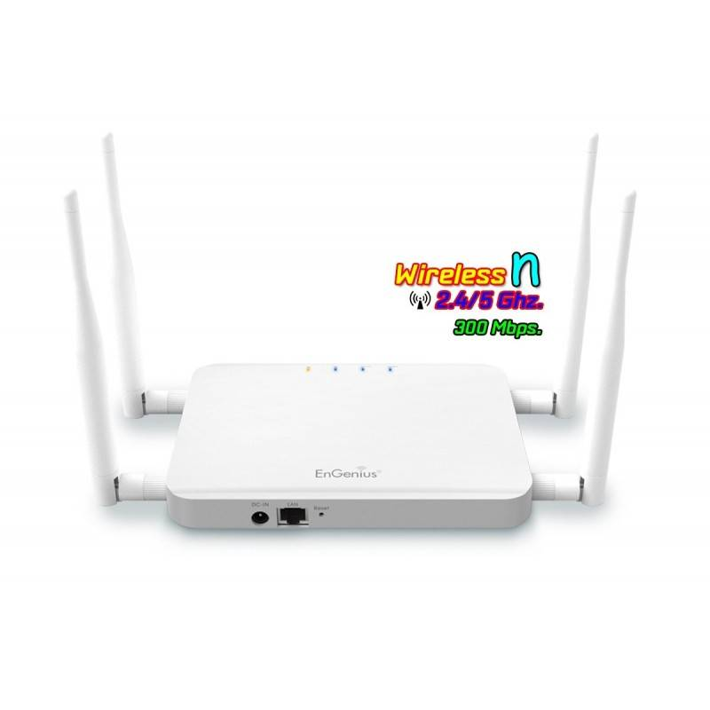 EnGenius ECB600 Wireless Access Point แบบ Dual Band ความถี่ 2.4/5GHz ความเร็ว 300 Mbps Port Gigabit Wireless AccessPoint (กระ...