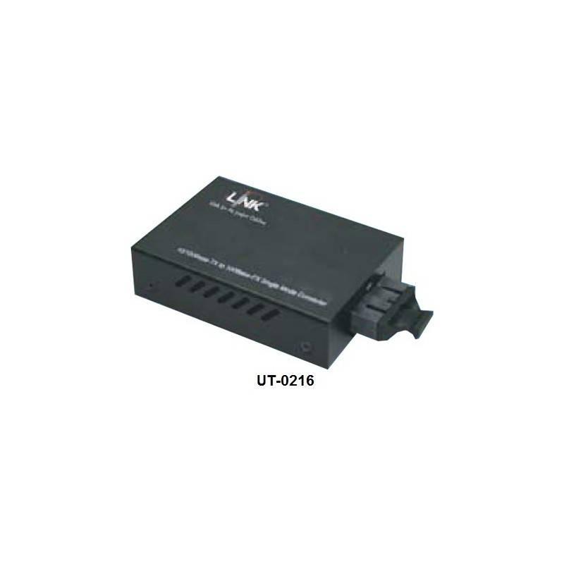 Link UT-0216 Mini Media Converter แปลงจาก RJ-45 เป็นสาย Fiber Optic แบบ MultiMode หัวต่อแบบ SC ระยะทาง 2 กิโลเมตร Media Conve...