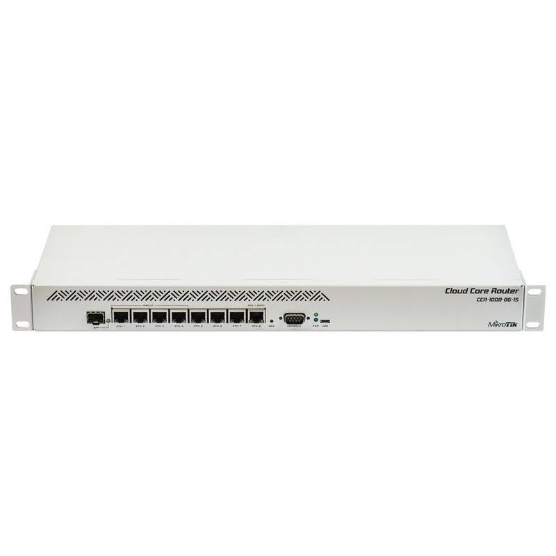 Mikrotik CCR1009-8G-1S Cloud Core Router CPU 9 Core 1.2GHz Ram 1GB, 8 Port Giagbit 1 Port SFP ROS LV 6