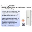 Engenius ENH202 Wireless Access Point แบบภายนอกอาคาร ย่านความถี่ 2.4GHz ความเร็ว 300Mbps
