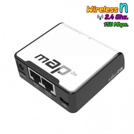 Mikrotik mAP-2n Access Point ความถี่ 2.4GHz 150Mbps ROS LV4 ขนาดเล็ก รองรับ POE