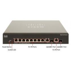 Cisco Cisco SG300-10MP (SRW2008MP) L3-Managed Switch 8 Port Gigabit 2-Port SFP/mini-Gbic รองรับ Static Routing พร้อม POE