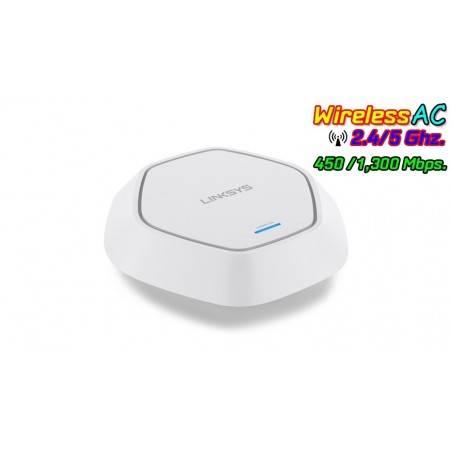 Linksys LAPAC1750 Access Point Dualband 2.4/5.0GHz มาตรฐาน 802.11ac ความเร็ว 1300Mbps