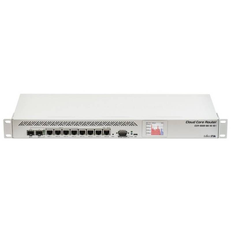 Mikrotik CCR1009-8G-1S-1S+ Cloud Core Router CPU 9-Core 1.2GHz Ram 2GB, 8 Port Giagbit 1 Port SFP ROS LV 6 Mikrotik (ไมโครติก)