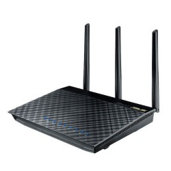Asus ASUS Asus RT-AC66U Wireless Broadband Router 2.4/5GHz มาตรฐาน 802.11ac ความเร็ว 1300Mbps 4 Port Gigabit