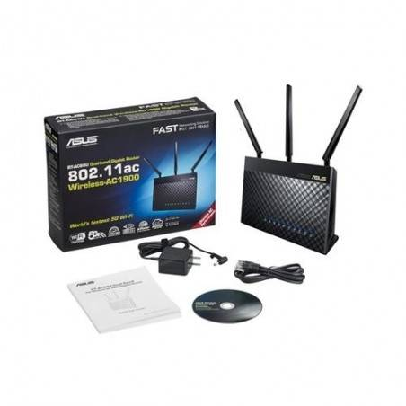 Asus RT-AC68U Wireless Broadband Router 2.4/5GHz มาตรฐาน 802.11ac ความเร็ว 1300Mbps 4 Port Gigabit