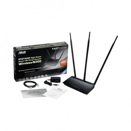 Asus RT-N14UHP Wireless Broadband Router แบบ High Power 2.4 มาตรฐาน 802.11n ความเร็ว 300Mbps